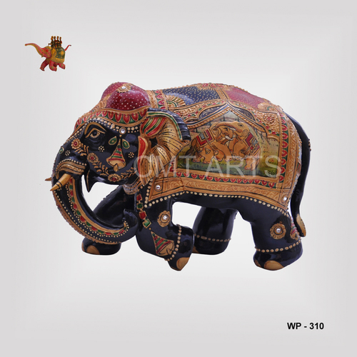 Wooden Painted Special Elephant