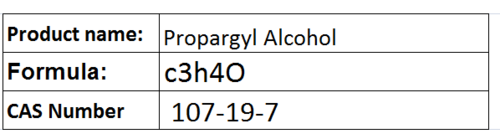Propargyl Alcohol