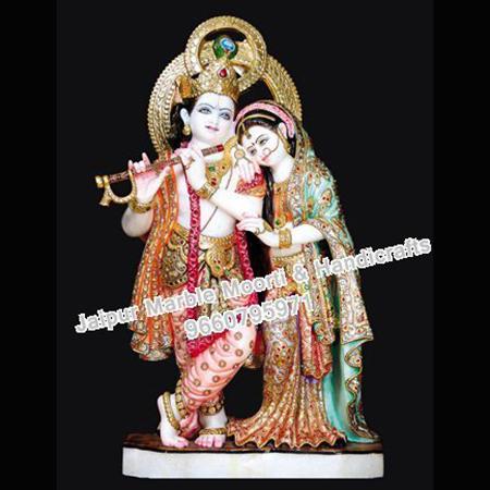 Moorti Marble Krishna Radha