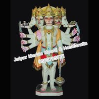 Headed Hanumaan Marble Statue