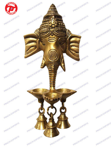 Ganesh Oil Lamp Hanging W / Three Diya