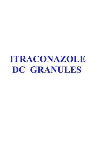 ITRACONAZOLE DC GRANULES