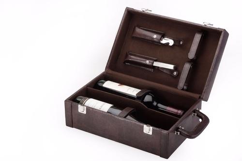 Leather Wine Box Holder