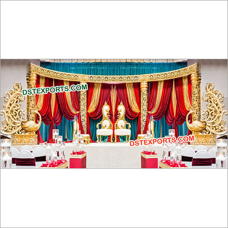 Gorgeous Wedding Fiber Stage Decors