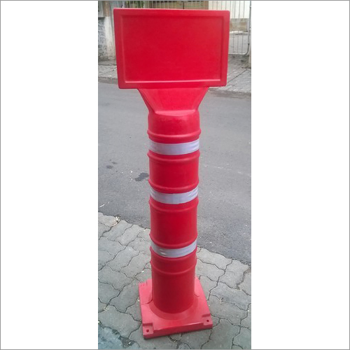 Road Divider Pole with Display Board