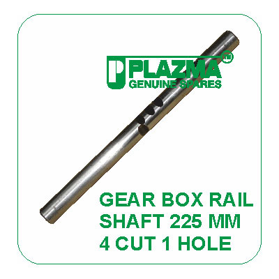 Gear Box Rail Shaft 225 mm 4 cut 1 Hole Green Tractor