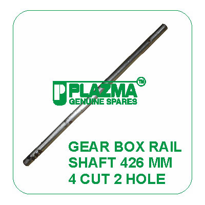 Gear Box Rail Shaft 426 mm 4 cut 2 Hole Green Tractor