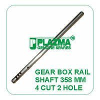 Gear Box Rail Shaft 358 mm 4 cut 2 Hole Green Tractor