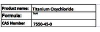 Titanium Oxychloride