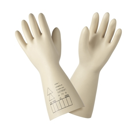 ELECTRICAL RUBBER HAND GLOVES.