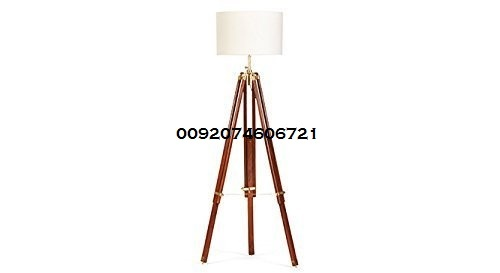 Designer Antique Tripod Floor Lamp Industrial Vintage Marine Tripod Lamp With shade