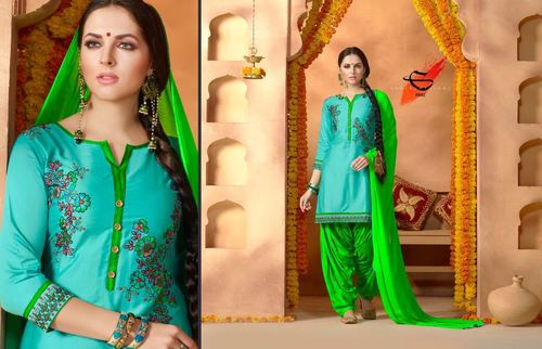 Shop Designer Embroidered Cotton Suits Online