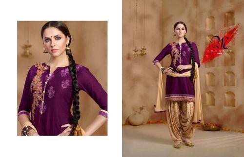 Buy Embroidered Patiyala Salwar Kameez Online