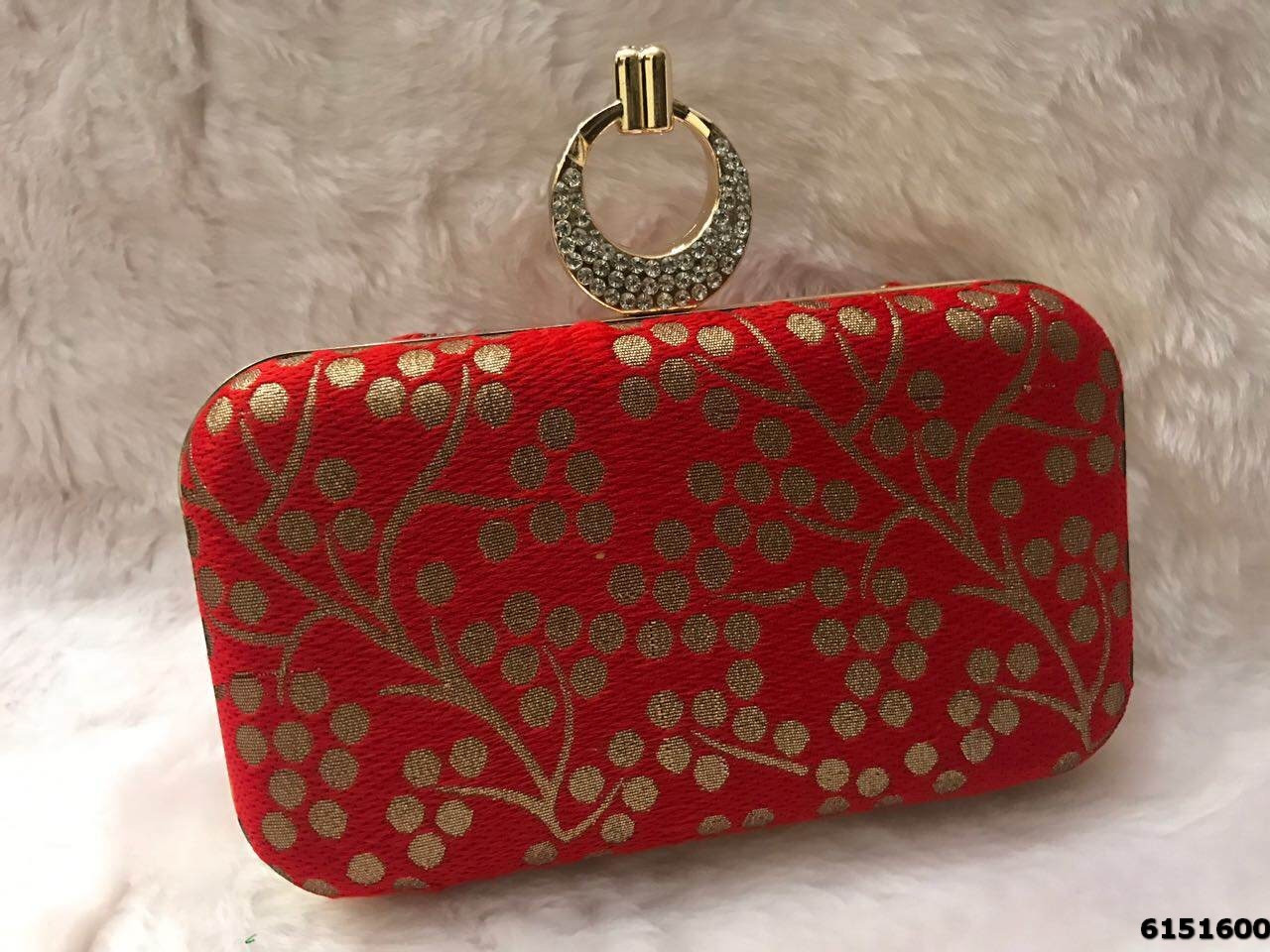 Traditional Embroidered Box Clutch