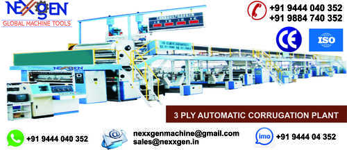 Automatic Corrugation Plant 3 Ply Unit
