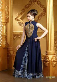 Indo Western Lehenga Choli Design For Girls