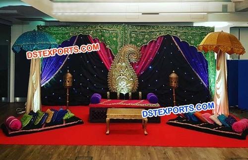 Muslim Mehandi Stage Umbrella Decors