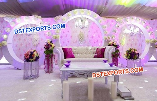 Nigerian Wedding Round Panels Stage