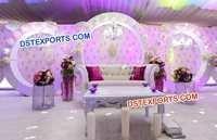 Nigerian Wedding Round Panels Stage