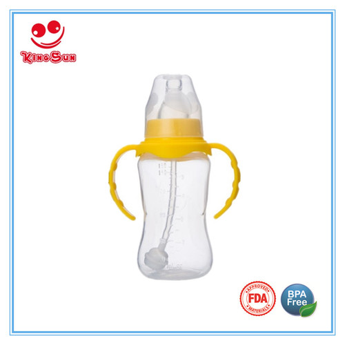 Normal Neck PP Infant Feeding Nursing Bottle Heat-resistant With Handle