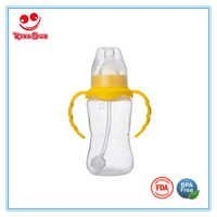 Normal Neck PP Infant Feeding Nursing Bottle Heat-resistant With Handle