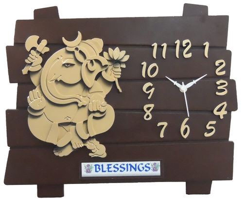 Wall Clock Brown