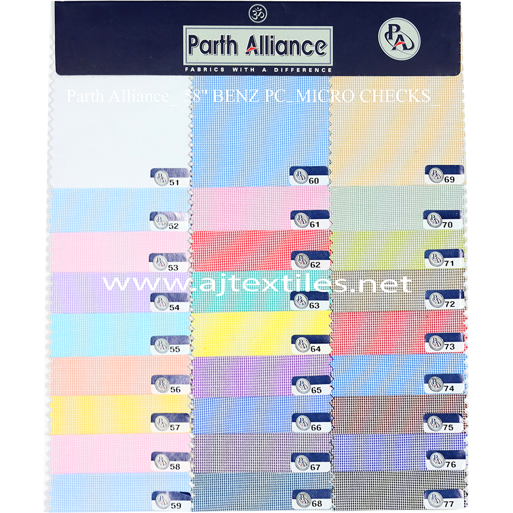 Micro Checks Shirting Fabric