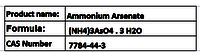 Ammonium Arsenate
