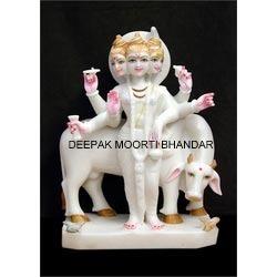 Marble Dattatreya God Statue