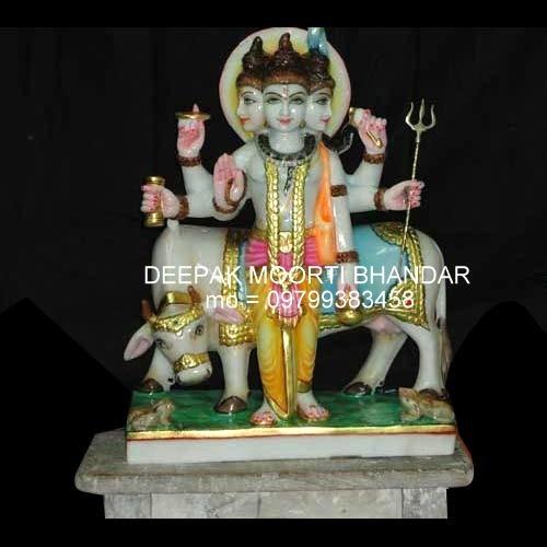 Marble Lord Dattatreya Statue