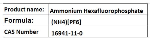 Ammonium Hexafluorophosphate