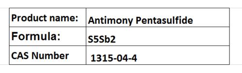Antimony Pentasulfide