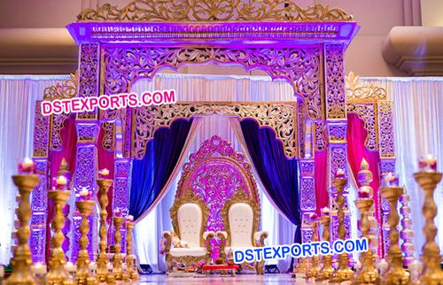 Maharani Wedding Heavy Carved Mandap
