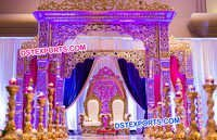 Maharani Wedding Heavy Carved Mandap