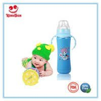 240ml Wide Neck Stainless Steel Baby Feeding Bottle