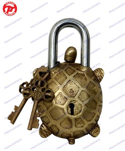 Lock W/ Designer Key Turtle Shape