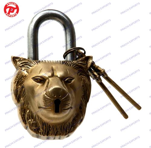 Lock W/ Keys Lion Face Design