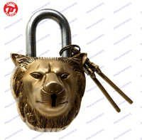 Lock W/ Keys Lion Face Design