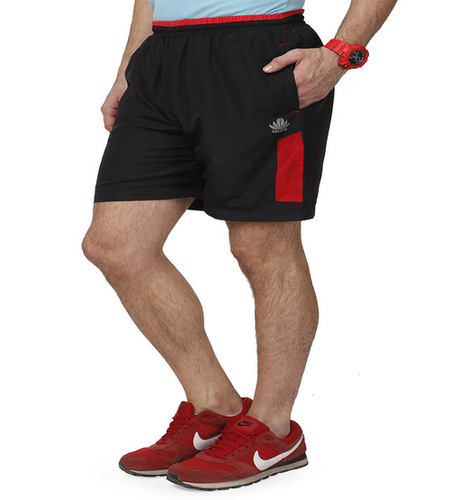 Men's Black & Red shorts