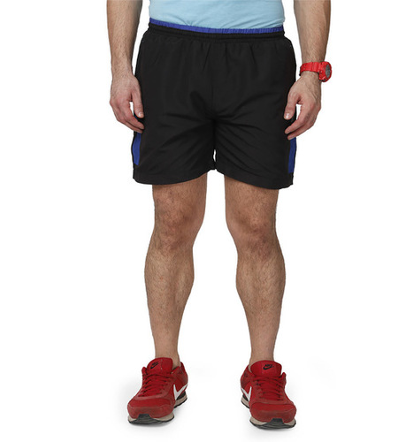 Men's Black & blue Shorts