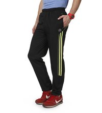Black & green track pant for mens