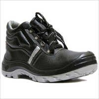 Hillson Black Leather Safety Shoes