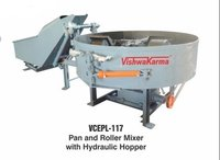 Pan Roller Mixer Machine With Hopper