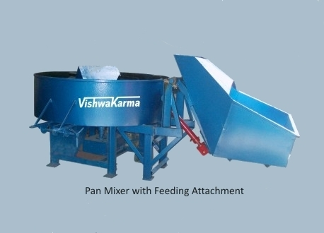 Pan Mixer With Feeding Attachment