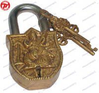 Lock W/ Keys Saraswati Design