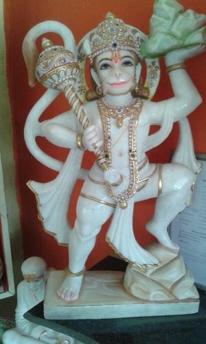 Marble Standing Hanuman Moorti