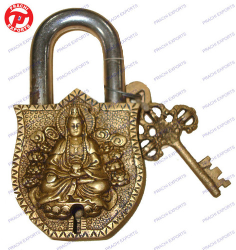 Lock W/ Keys Lotus Kwanyin Design