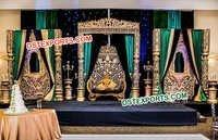 Fantastic Jhrokha Panels Wedding Stage