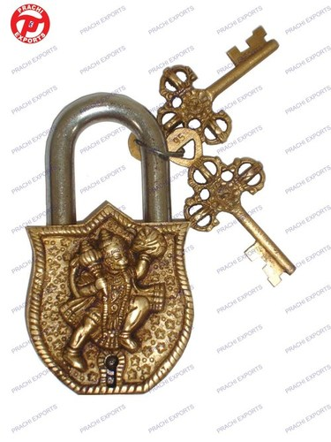Lock W/ Keys Hanuman Design