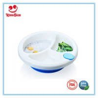 PP Baby Feeding Warmming Plate Dinner Dish